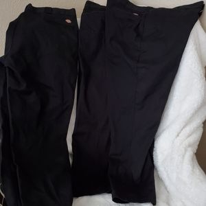 3 pair like new Men's black DICKIES 40X31
